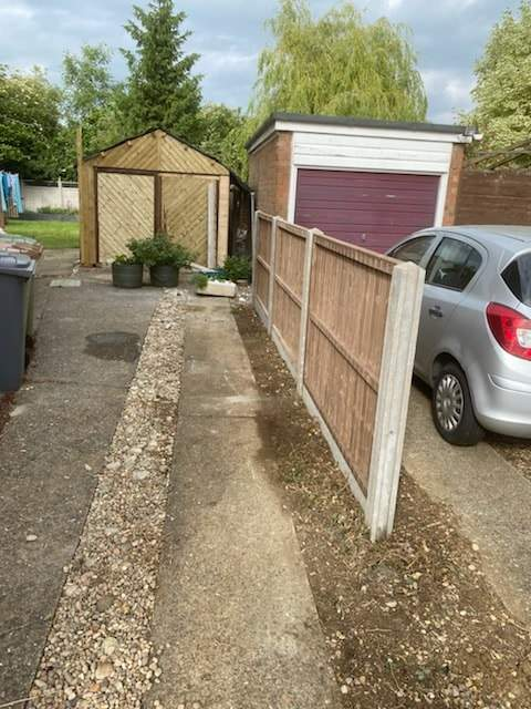 4ft Fencing Panels installed in Northborough