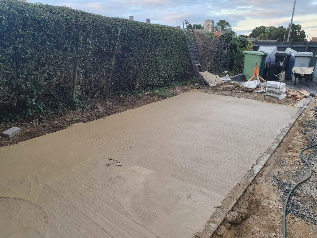 Concrete Shed Base installed in Market Deeping