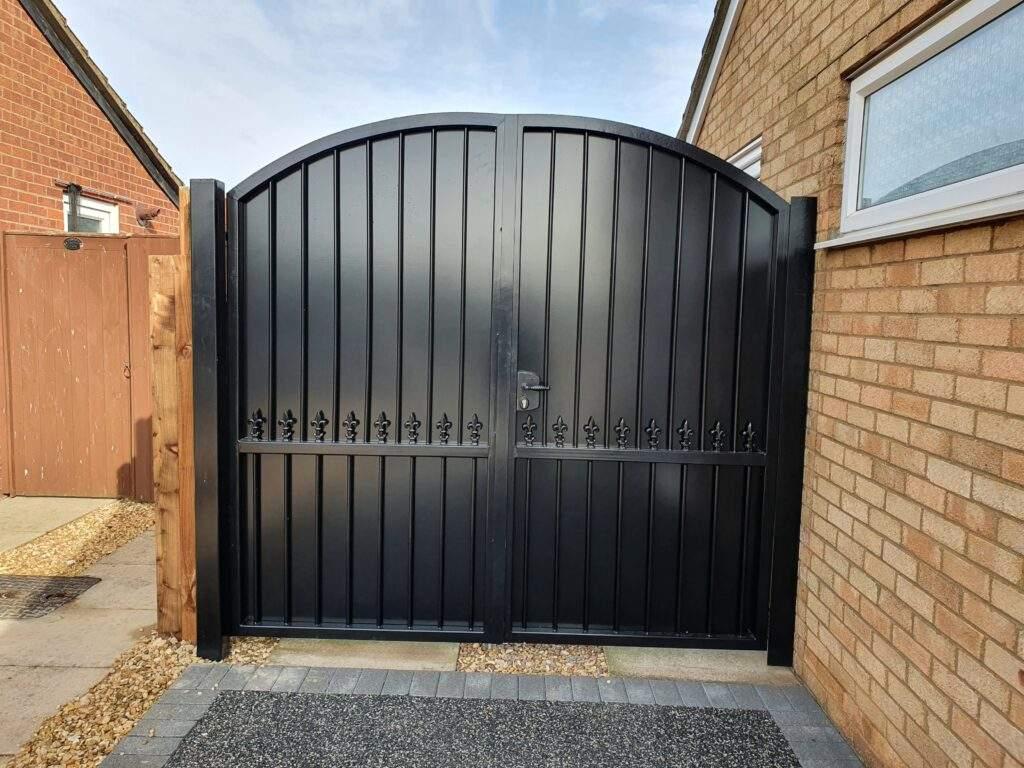 Metal Driveway Gate installed in Peterborough