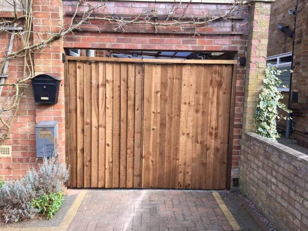 New Wooden Driveway Gates installed in Werrington