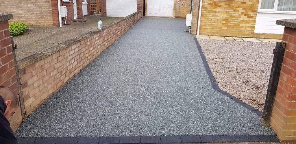 Resin Bound Overlay of a Concrete Drive in Werrington