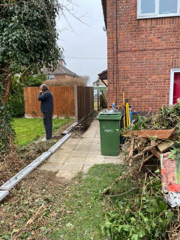 New fencing being installed in Peterborough