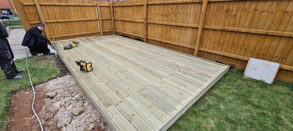 Decking Installation Completed in Stanground