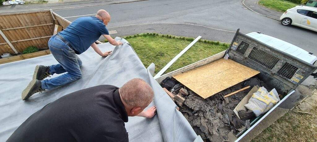 Rubber Roof being installed in Peterborough