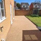 Sienna Resin Patio with Golden Shimmer Glitter in Peterborough