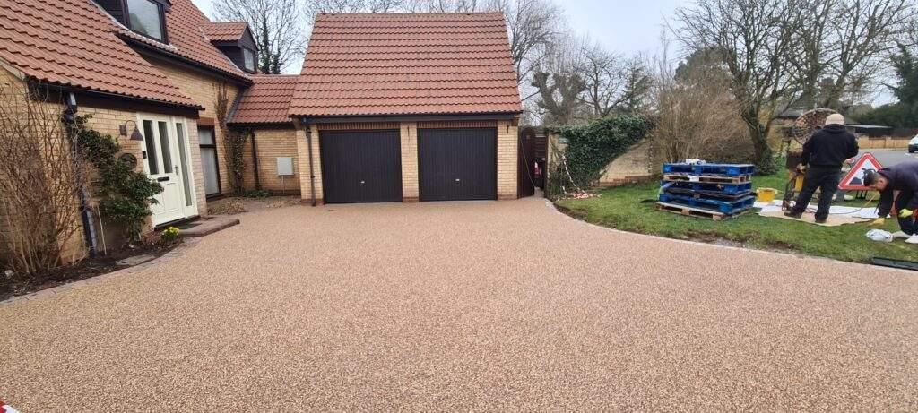 Sienna Coloured Resin Driveway in Peterborough