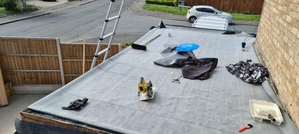 EPDM Rubber Flat Roof installed in Peterborough