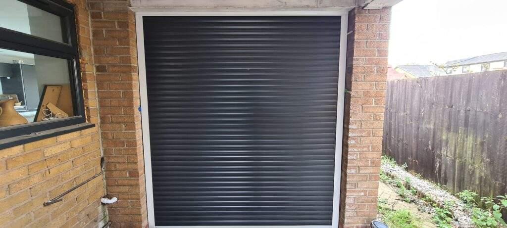 Electric Roller Shutter Garage Door installed in Werrington Peterborough