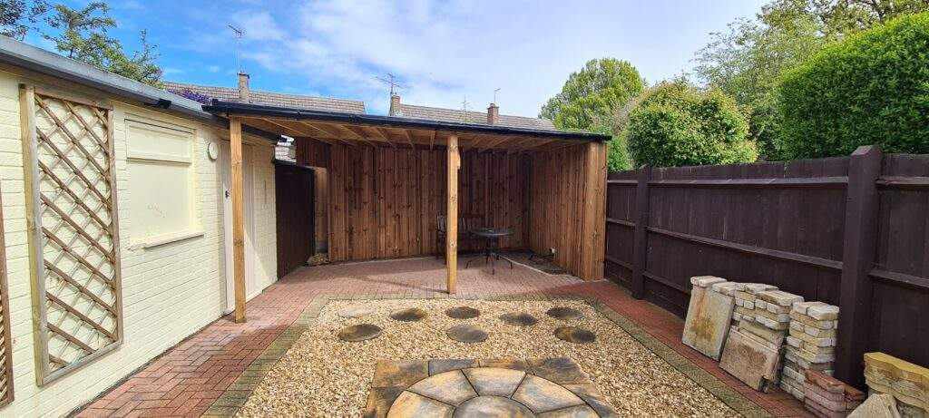 Bespoke Wooden Out Building Made for a client in Orton Peterborough