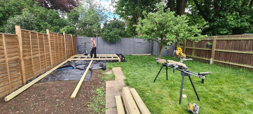 Decking Being Installed in Peterborough