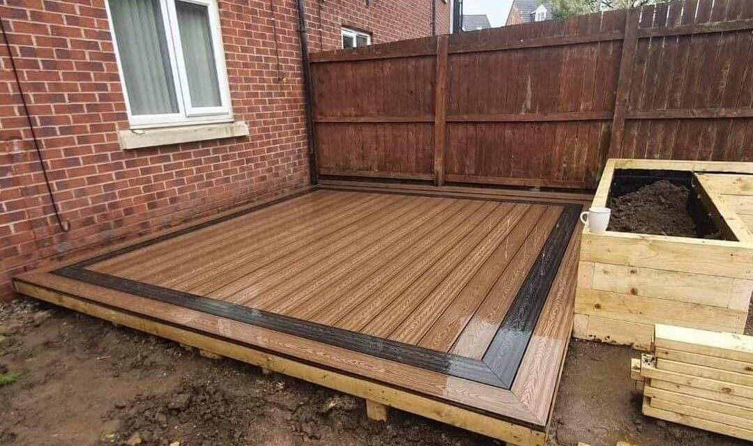 New Composite Decking installed in Peterborough