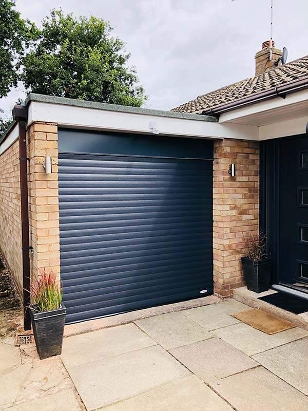 Roller Shutter Garage Door installed in Peterborough