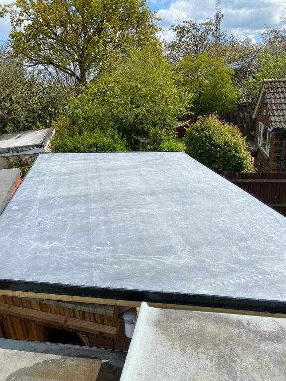 EPDM Rubber Roof installed in Orton Peterborough