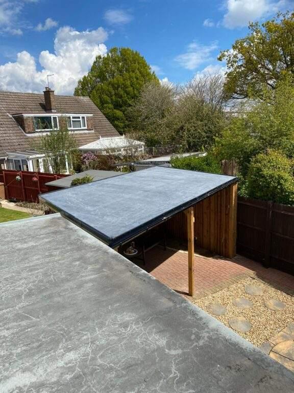 New Wooden Garden Shelter installed in Peterborough