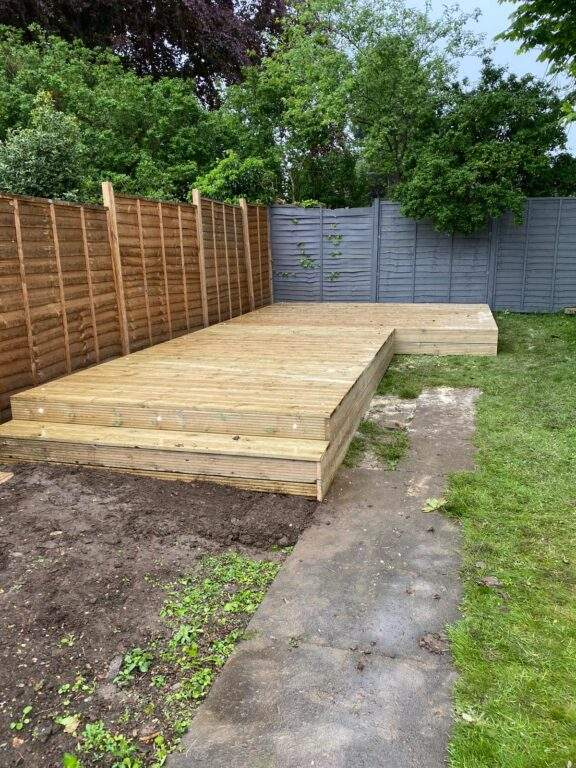 Large Decking Area with Lights