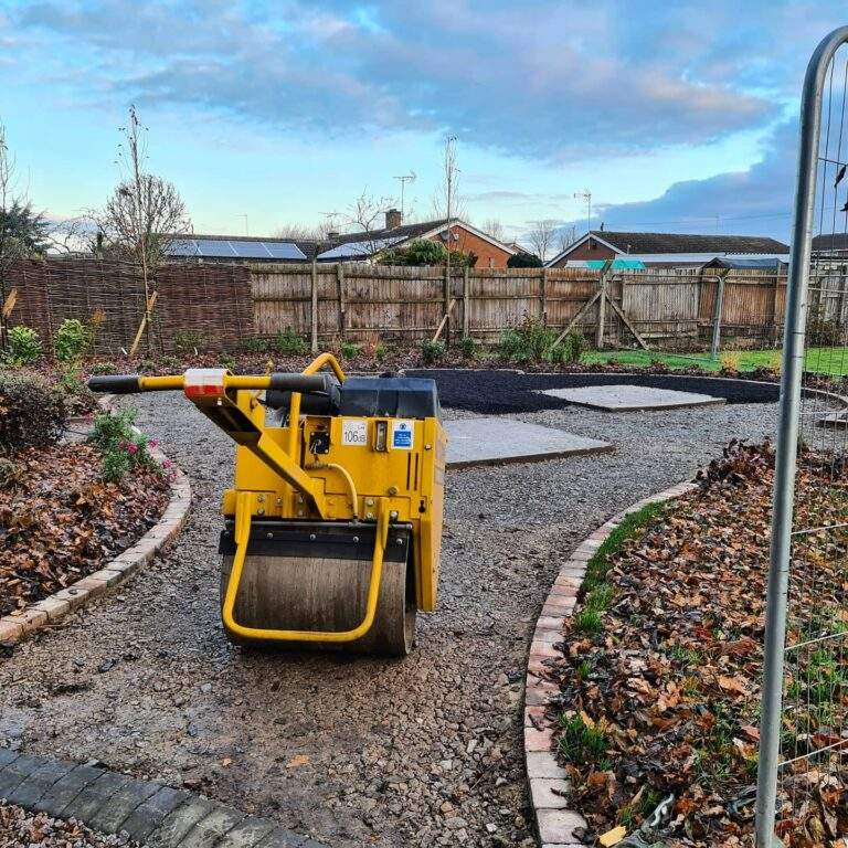 Tarmac being installed in Cemetery in Market Deeping