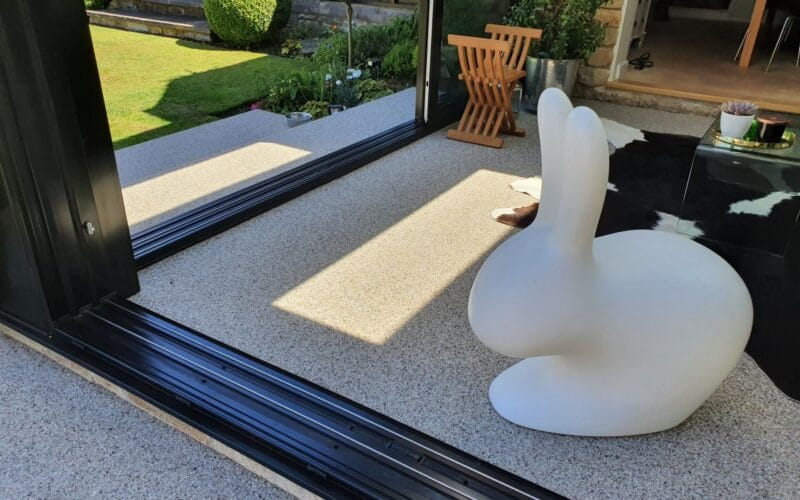 Resin Bound Conservatory Base in Ketton
