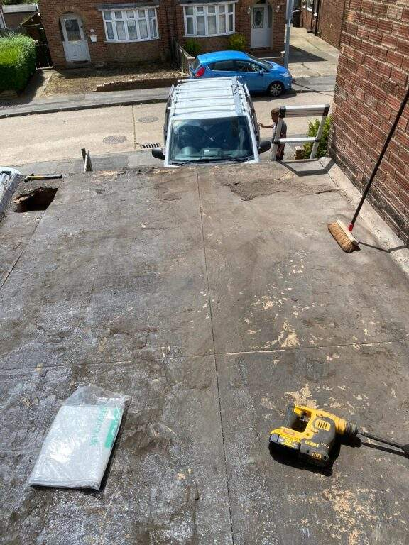 EPDM Rubber Roof installed in Peterborough