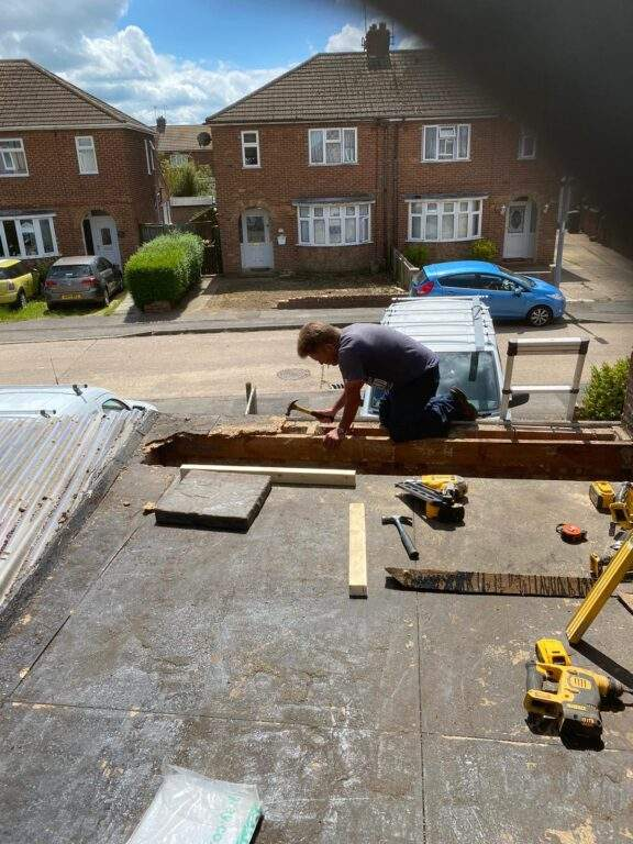 Stepehen installing new EPDM Rubber Roof in Stanground