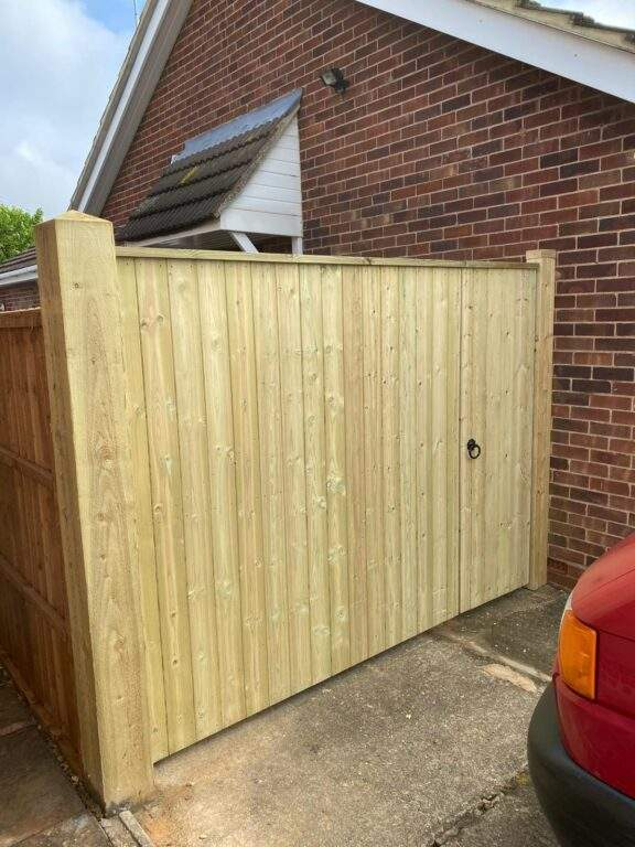 Tongue and Groove Gate installed in Helpston