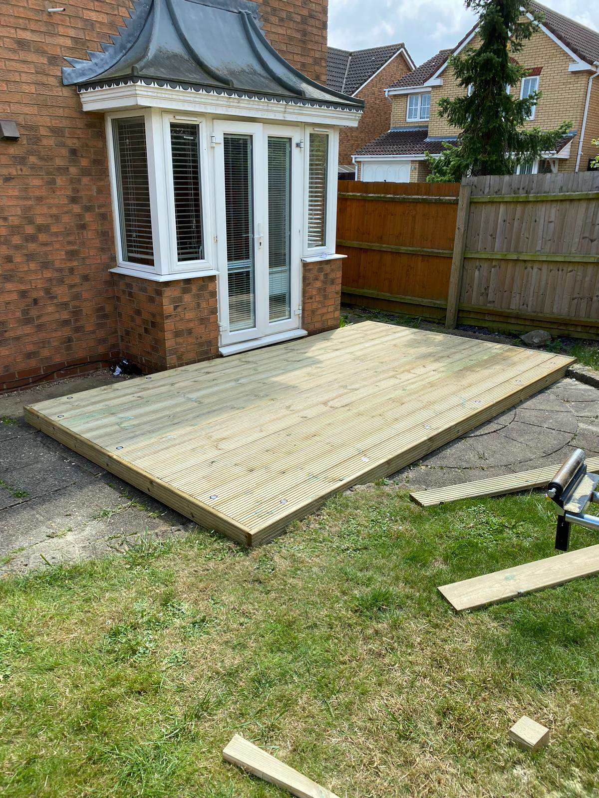 New Timber Decking Area completed in Park Farm