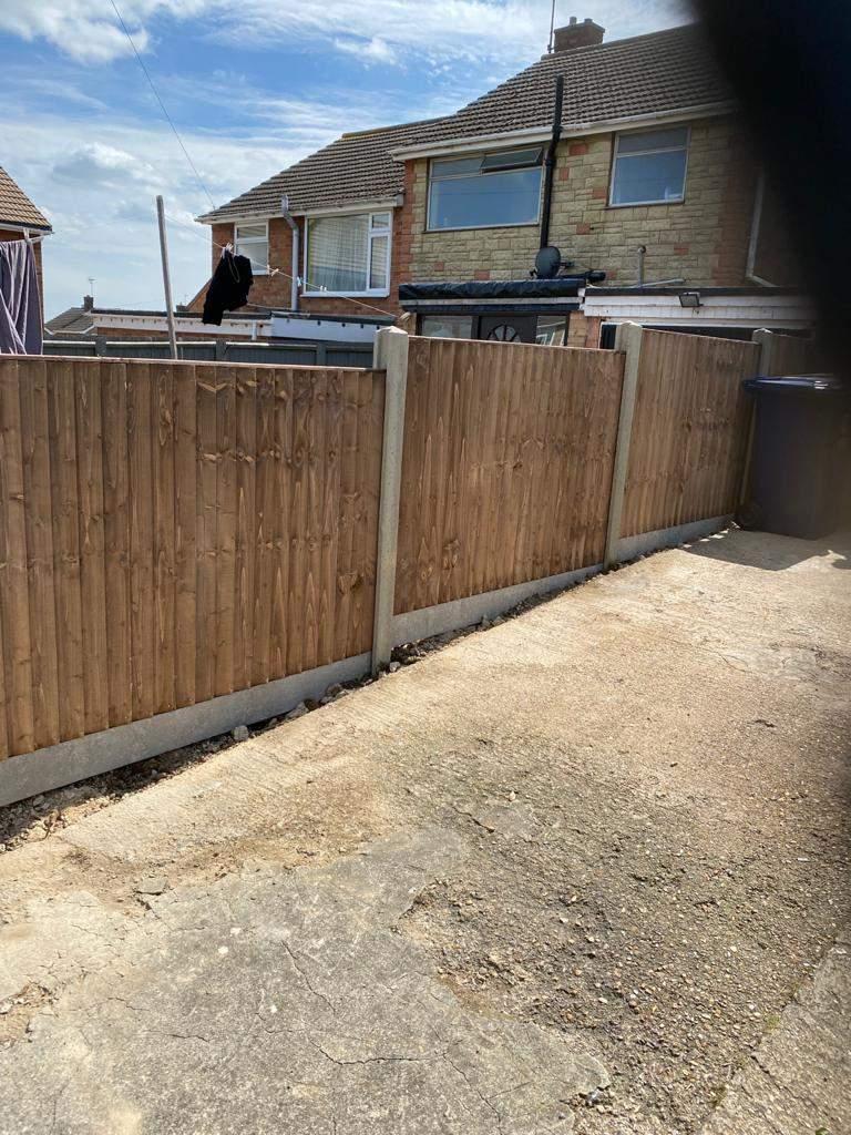 New Closeboard Fencing in Yaxley