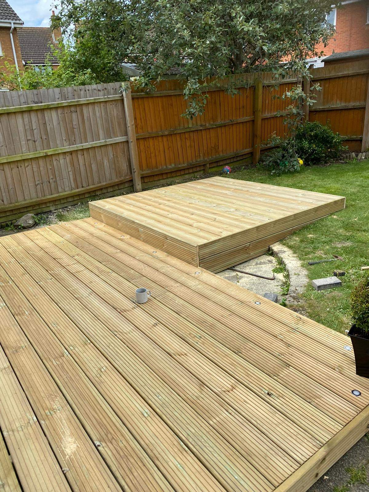 Decking completed in Park Farm