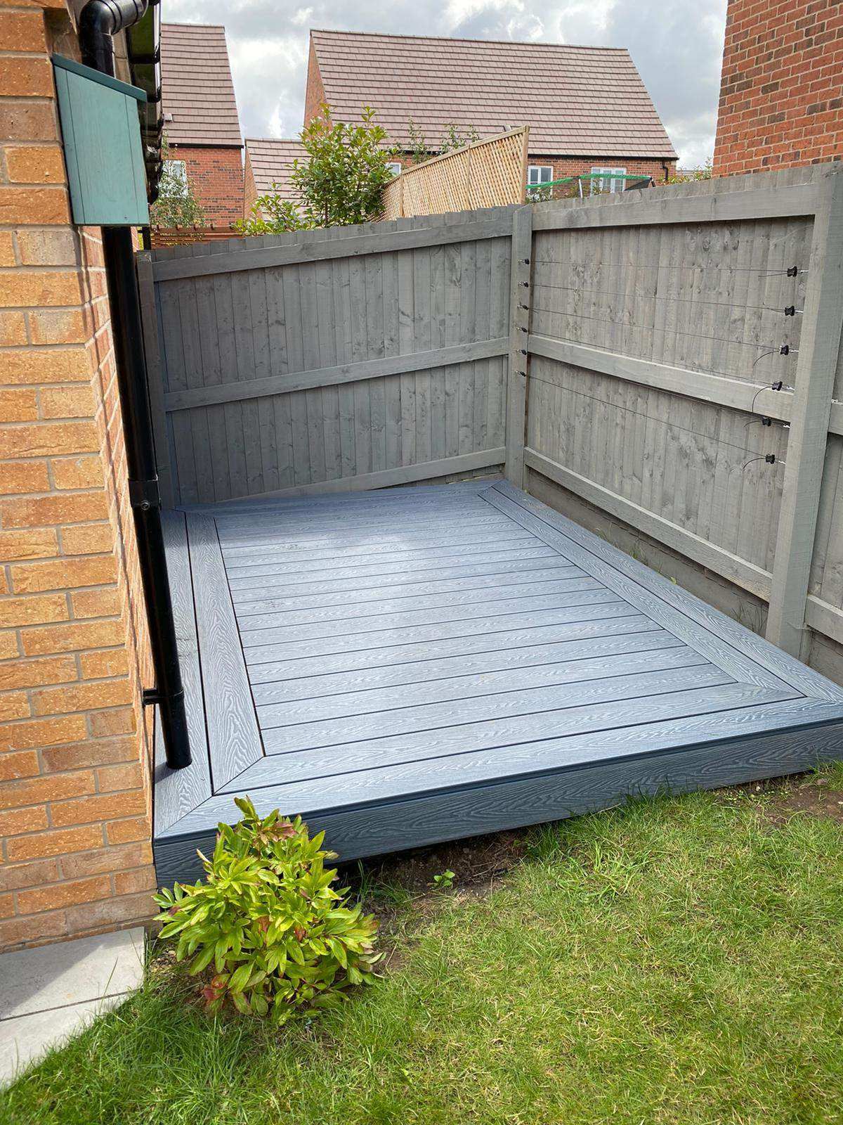 New Grey Composite Decking install in Stamford